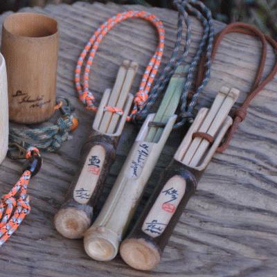 長野修平のモーラナイフ・クラフト工房 竹の箸と携帯ケース作り