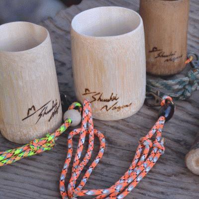 長野修平のモーラナイフ・クラフト工房 竹のマイカップ作り